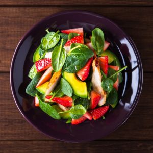 bright spinach salad