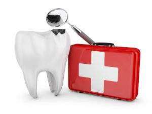 An illustration of emergency dental care.